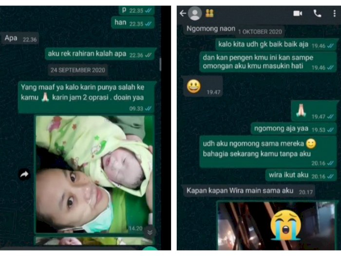 Istri Dicuekin Suami, Jalani Operasi Melahirkan Seorang Diri Hingga Akhirnya Bercerai