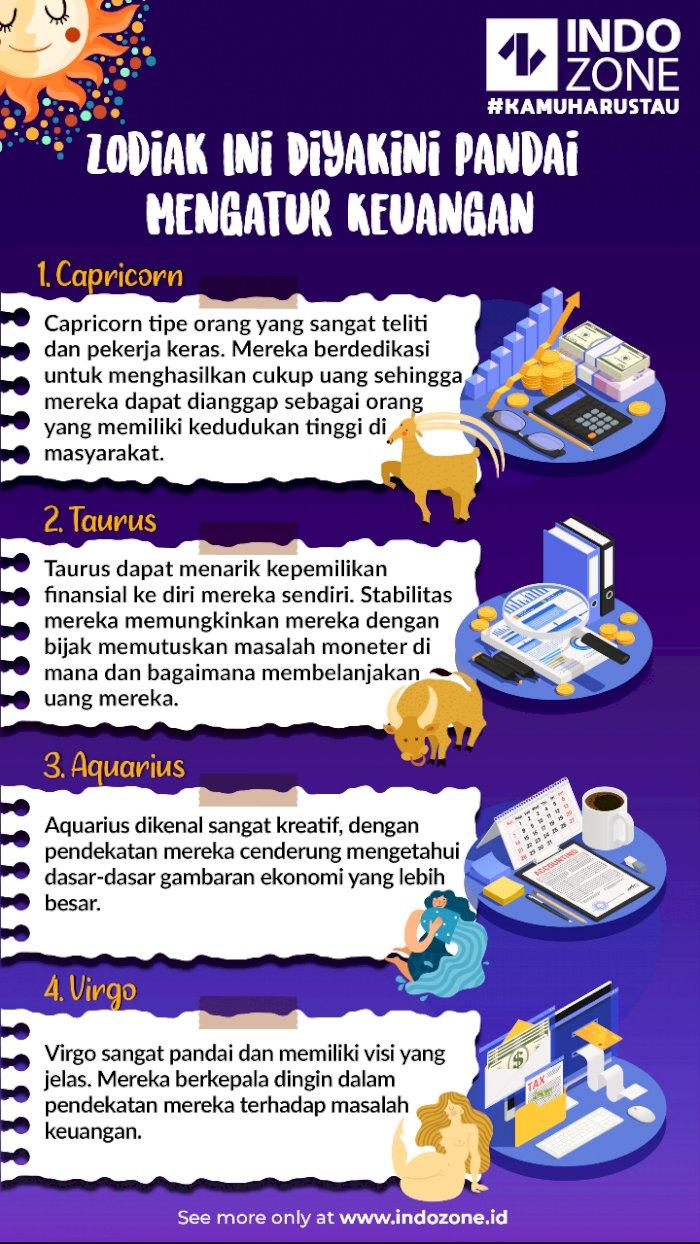 4 Zodiak Ini Diyakini Pandai Mengatur Keuangan
