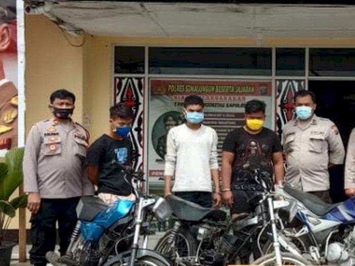 Jual Motor Curian di Facebook, Komplotan Pencuri di Karo Diringkus Petugas