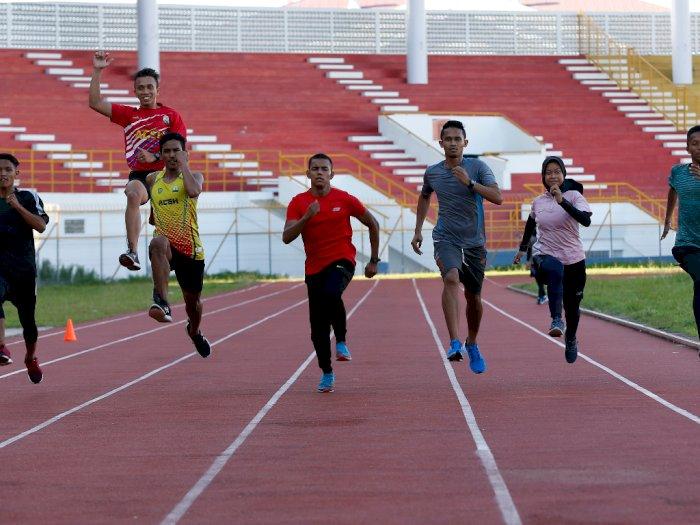 FOTO: Latihan Atletik Persiapan PON