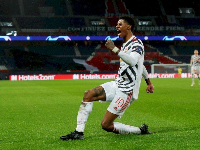 Marcus Rashford Jadi Penyelamat Manchester United Saat Melawan PSG