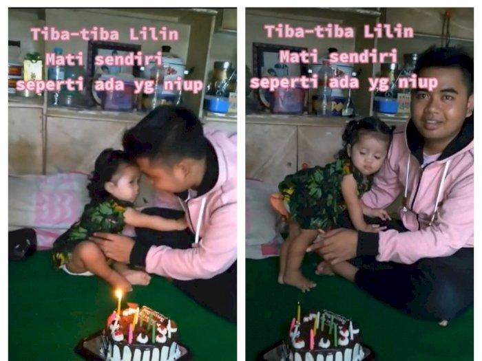Lilin Kue Ulang Tahun Anak Ini Tiba-Tiba Mati seperti Ditiup, Netizen: Ada yang Ajak Main