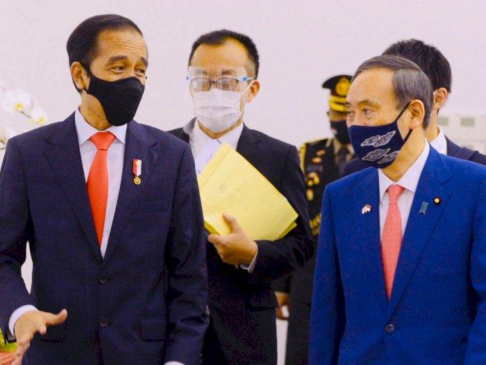 Momen Jokowi Sambut PM Jepang di Istana, Tamu Kenegaraan Pertama Semasa Pandemi