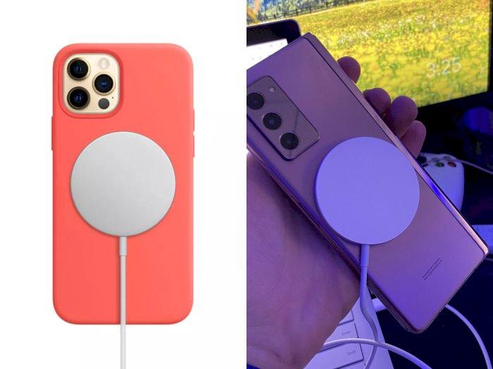 Charger Wireless MagSafe Milik Apple Ternyata Bisa Dipakai di Galaxy Z Fold 2 dan Pixel 5!