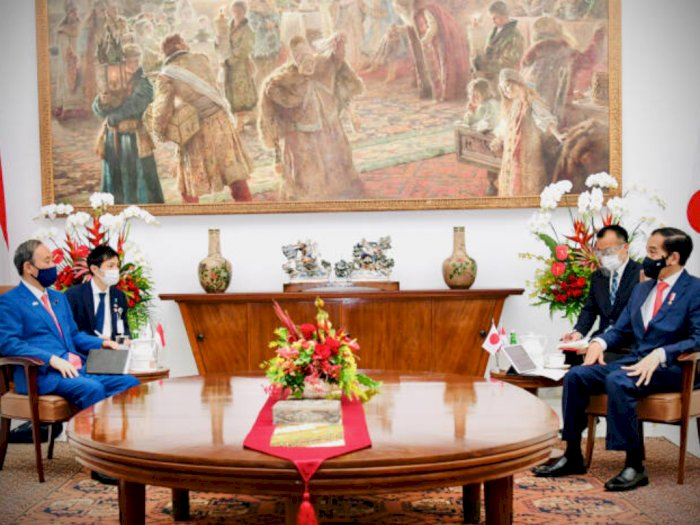 Kupas 4 Pembahasan Utama Hasil Pertemuan PM Jepang Suga dan Jokowi di Istana Bogor
