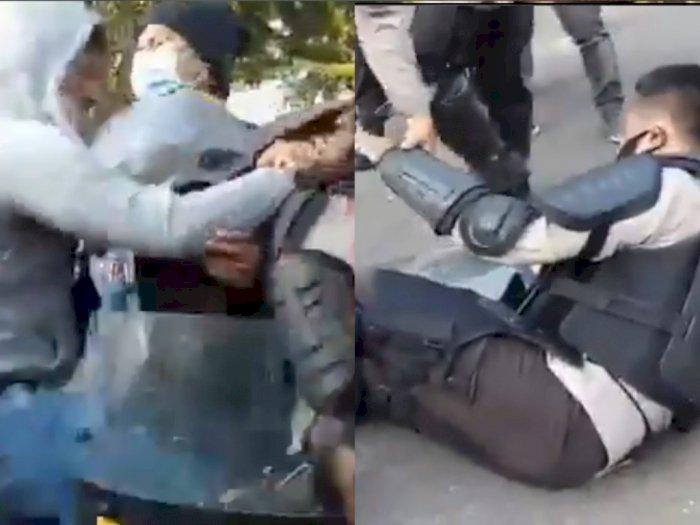 Viral Brimob Nyamar Jadi Mahasiswa Rusuh Malah Dihajar Polisi Sabhara, Ini Faktanya