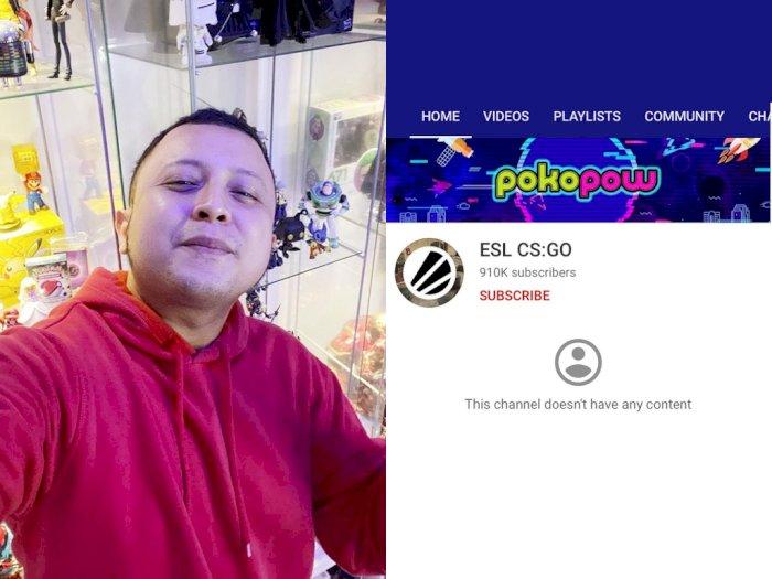Akun YouTube Pokopow Diretas, Peretas Sempat Lakukan Streaming Berisi Penipuan