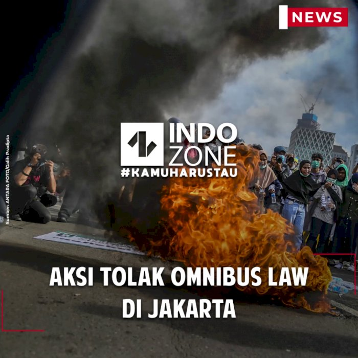 Aksi Tolak Omnibus Law di Jakarta