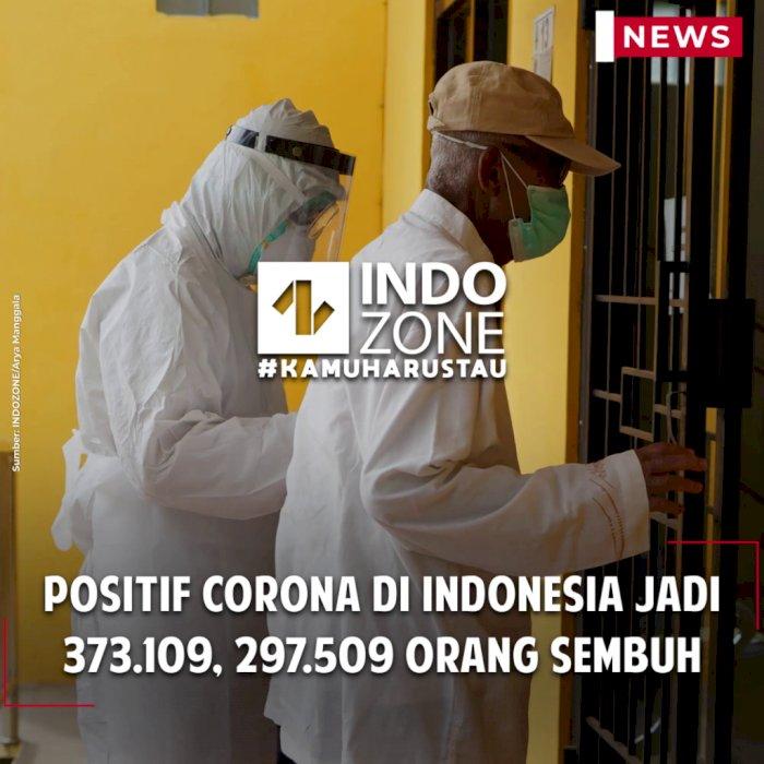 Positif Corona di Indonesia Jadi 373.109, 297.509 Orang Sembuh