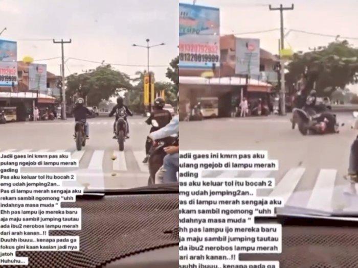 Niatnya Mau Wheelie Berujung Ditabrak Emak-emak, Netizen Berdebat Siapa yang Salah