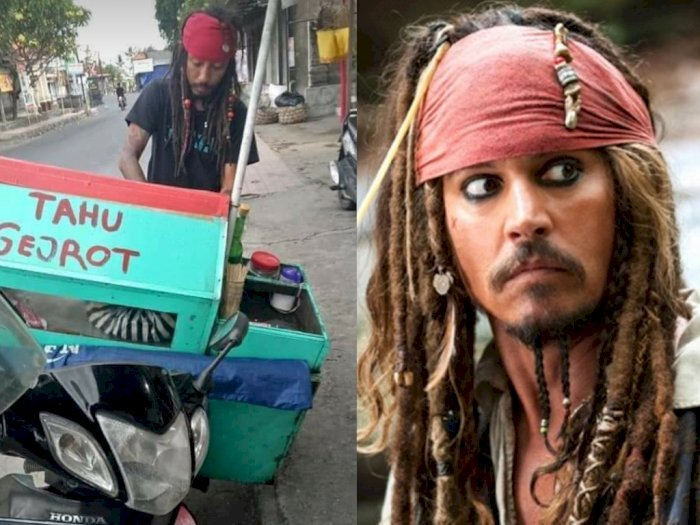 Disebut Mirip Jack Sparrow, Tukang Tahu Gejrot Berambut Gimbal Ini Mendadak Viral