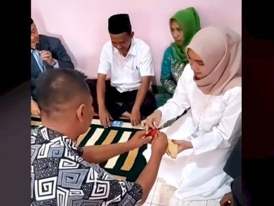 Sering Dilangkahi Adik, Pria Ini Baru Menikah di Usia 42, Dapat Istri Masih ABG