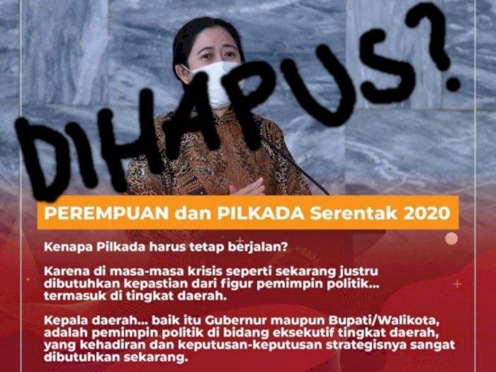Postingan Puan Maharani Soal Pilkada Serentak 2020 Harus Tetap Jalan Dihapus, Ada Apa?