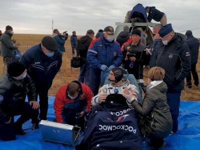 FOTO: Kapsul Luar Angkasa Soyuz MS-16 Mendarat di Dekat Zhezkazgan