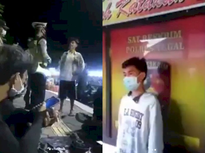 Viral Pemuda yang Ngamuk Gegara Diingatkan Pakai Masker Oleh Polisi, Berujung Minta Maaf