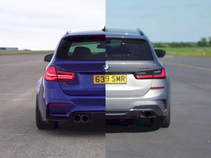 Melihat Drag Race Antara BMW M3 Touring Hasil Modifikasi dan BMW M340i