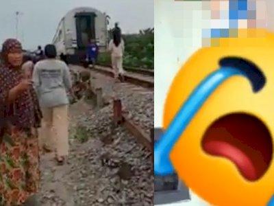 Video Wanita Hamil Bunuh Diri Ditabrak Kereta Api, Warga Cuma Nonton Padahal Masih Hidup