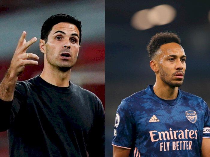 Arteta Tidak Khawatir Soal Minimnya Gol Aubameyang Jelang Laga Arsenal di Liga Eropa