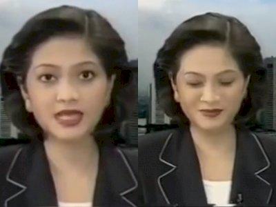Viral Video Lawas Penyiar Coba Tahan Tawa Saat Live Bacakan Berita, Bikin Netizen Ngakak