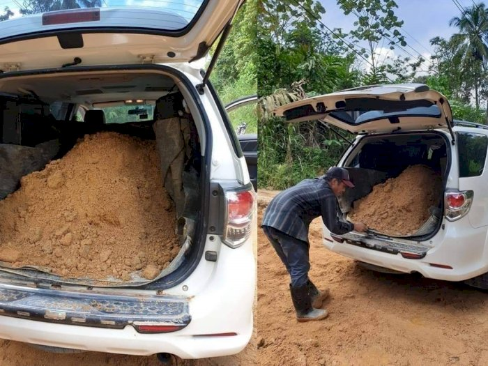 Kocak! Toyota Fortuner Tak Punya Harga Diri di Daerah Ini, Cuma Dipakai Buat Angkut Tanah
