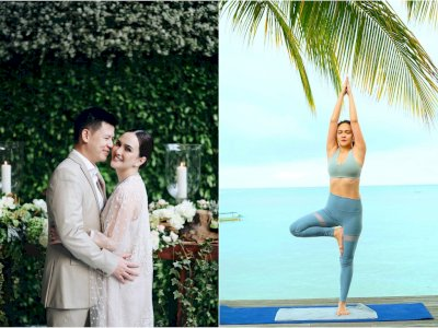 Unggah Foto Pilates Kaki Bersandar di Tubuh Suami, Shandy Aulia Kena Nyinyiri Netizen