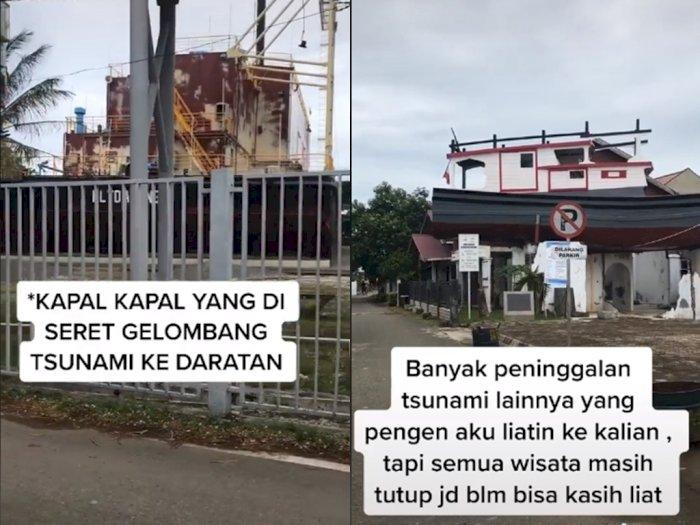 Viral Video Kapal di Atas Rumah yang Jadi Saksi Bisu Tsunami Aceh 2004