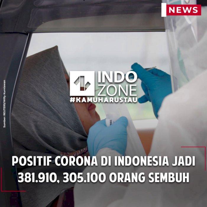 Positif Corona di Indonesia Jadi 381.910, 305.100 Orang Sembuh