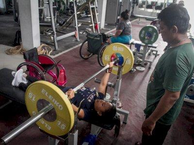 FOTO: Pelatnas NPC Angkat Berat Paralimpiade