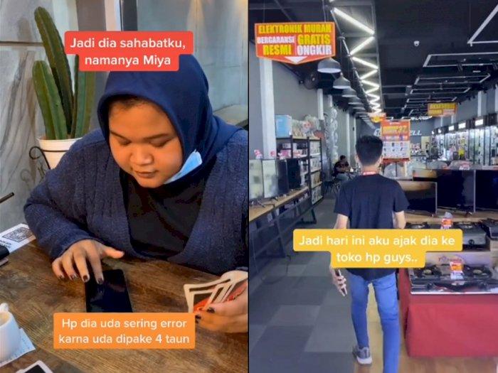 Cowok ini Belikan Hape Baru Untuk Sahabatnya, Bikin Netizen Terharu