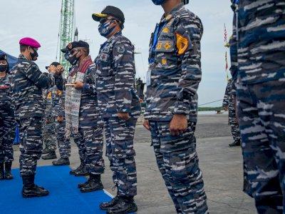 FOTO: KRI Bima Suci Tiba di Medan