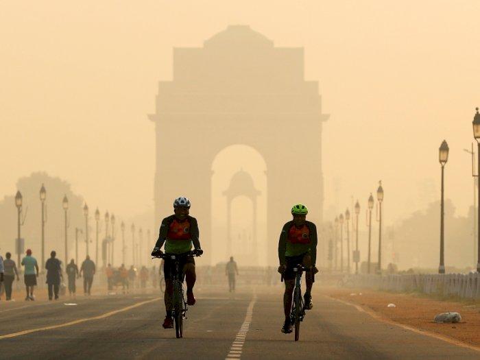 FOTO: Polusi Udara di India Menjadi Risiko Kesehatan Terbesar Setelah COVID-19