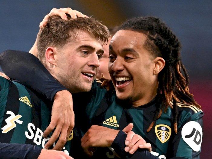 FOTO: Liga Inggris, Aston Villa Tumbang 0-3 dari Leeds United