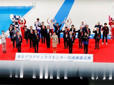 FOTO: Upacara Pembukaan Tokyo Aquatics Center