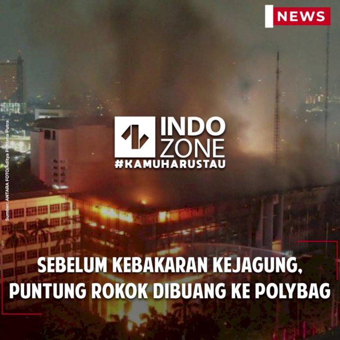 Sebelum Kebakaran Kejagung, Puntung Rokok Dibuang ke Polybag