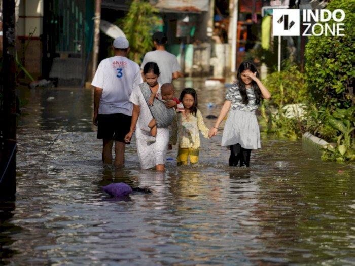 Pagi Ini, Sebanyak 72 RT di Jakarta Tergenang Banjir
