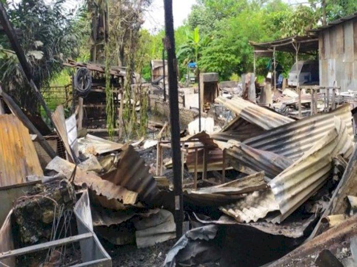 Warung Bakso di Medan Polonia Hangus Dilahap Api, Tak Ada Korban Jiwa