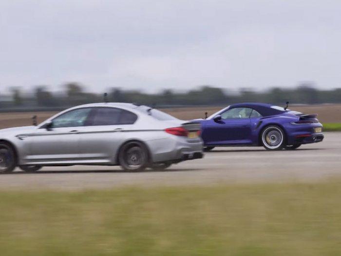 Melihat Drag Race Antara BMW M5 dengan 1.000 HP dan Porsche 911 Turbo S