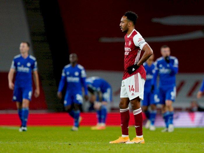 Arsenal Kalah dari Leicester, Aubameyang 'Mandul' Gol Dalam 5 Pertandingan Sejak 2014
