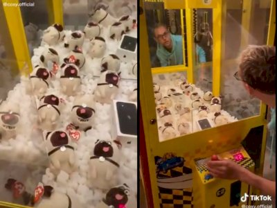 Niatnya Mau Dapetin Hape dari Permainan Mesin Capit Boneka, Endingnya Bikin Ngakak