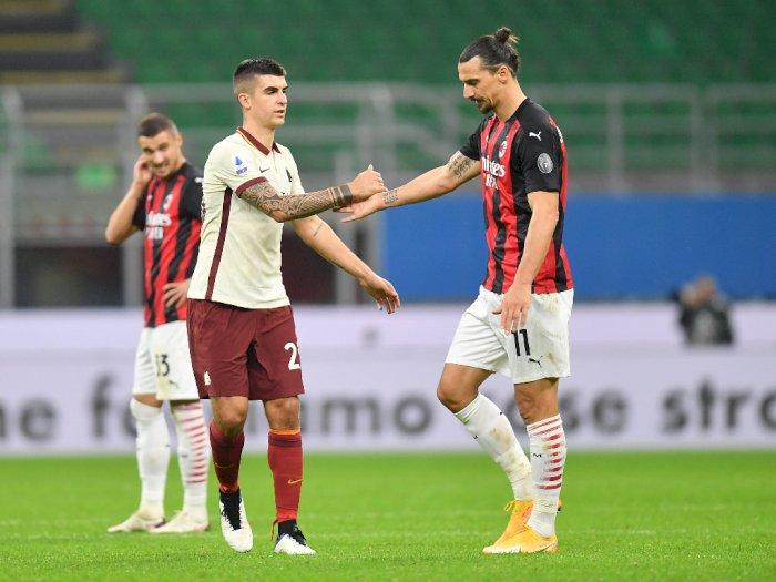 FOTO: Liga Italia, Milan Bermain Imbang 3-3 Melawan AS Roma