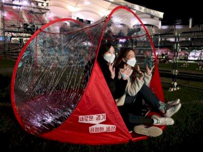 Suasana Konser K-pop di Korea saat Pandemi Tetap Meriah, 300 Tenda Dipasang untuk Penonton