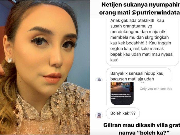 Salmafina Sunan Singgung Mental Netizen yang Pernah Menyumpahinya Tapi Pengen Dapat Villa