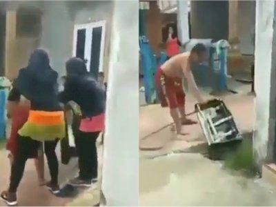 Pria Ini Ngamuk Banting Kompor, Diduga Kesal Istri Asyik Senam tapi Tak Siapkan Makanan