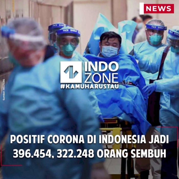 Positif Corona di Indonesia Jadi 396.454, 322.248 Orang Sembuh