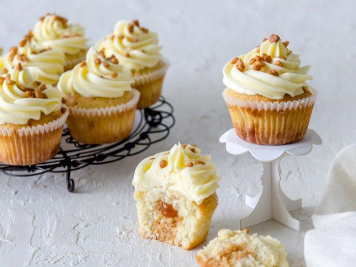 Manis dan Gurih, Ini Resep Salted Caramel Cupcake