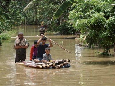 FOTO: Banjir Akibat Hujan Deras di Cilacap