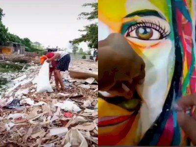 Salut! Pria ini Bikin Karya Seni dari Sampah Plastik yang Dikumpulkan, Hasilnya Luar Biasa
