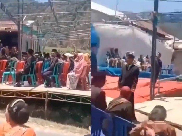 Viral Tenda Pernikahan Tanpa Atap Bikin Tamu Kepanasan, Netizen: Efek Nawar Vendor Sadis