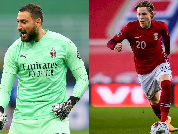 AC Milan Umumkan Gianluigi Donnarumma dan Jens Petter Hauge Sama-Sama Positif Covid-19