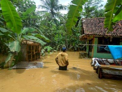 FOTO: Banjir Luapan Sungai Ciputrahaji dan Cikaso di Ciamis
